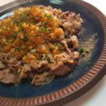 牛肉のシャリアピン炒め