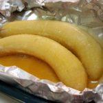 バナナとバターのホイル焼き