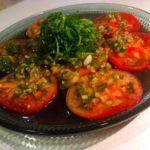 トマトと大葉のポン酢カルパッチョ