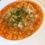 スープの素で作る濃厚リゾット