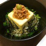 ツナ豆腐わさび丼