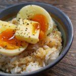 半熟ゆで卵かけご飯