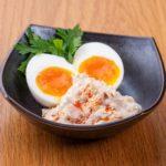半熟卵のシーチキンチキンマヨソース